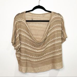 Anthropologie Knitted & Knotted Scoop Neck Sweater